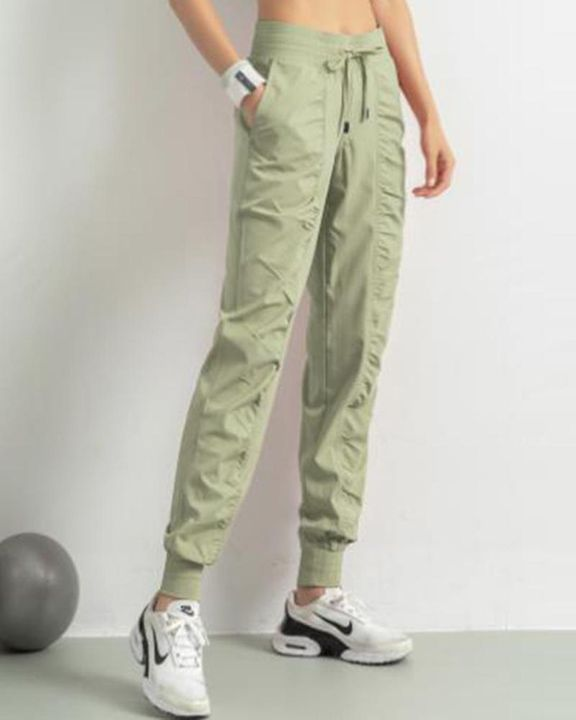 Quick Dry Drawstring Waist Ruched Front Sports Pants gallery 12