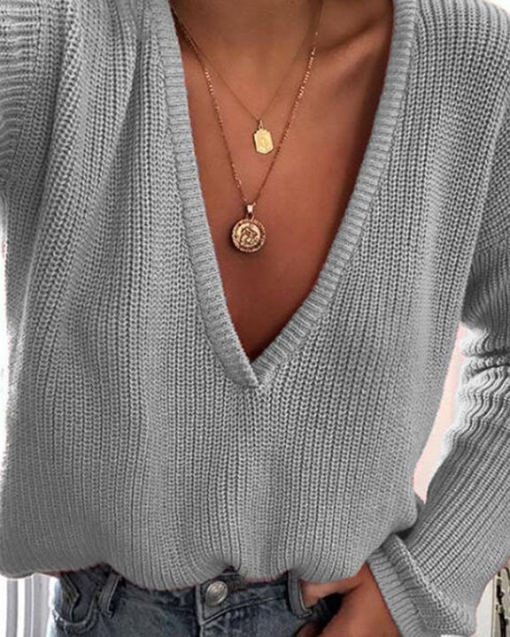 Chunky Knit Drop Shoulder Sweater gallery 6