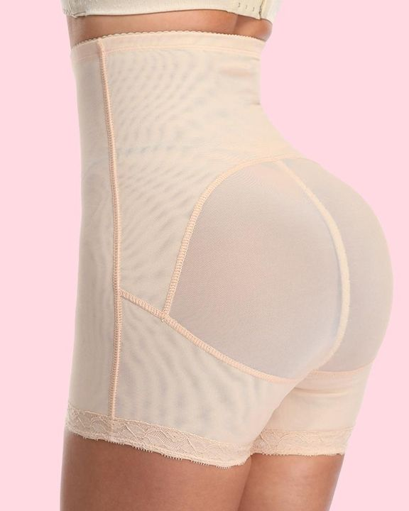 Solid Buckle Front High Waist Shapewear Shorts gallery 11