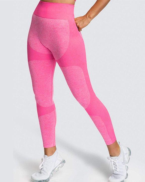 Space Dye Butt Lifting Seamless Absorbs Sweat Sports Leggings gallery 20