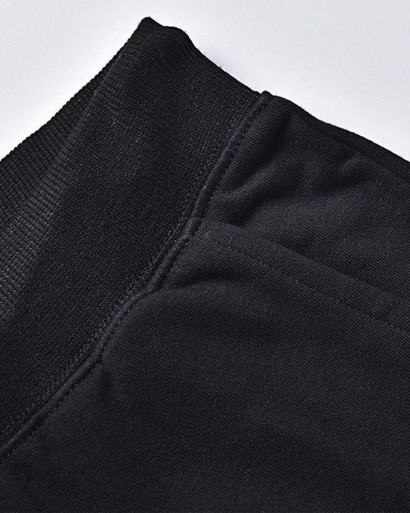 Queen & Letter Print Drawstring Kangaroo Pocket Front Hooded Top & Pants Set gallery 3