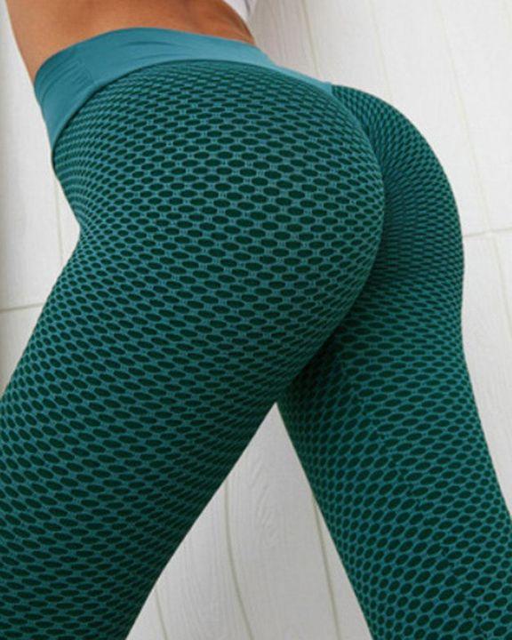 Textured High Waist Sports Leggings gallery 5