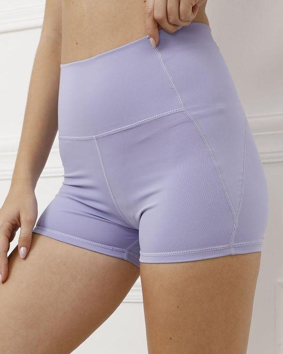 Pocket Decor Wide Waistband Butt Lifting Sports Shorts gallery 6