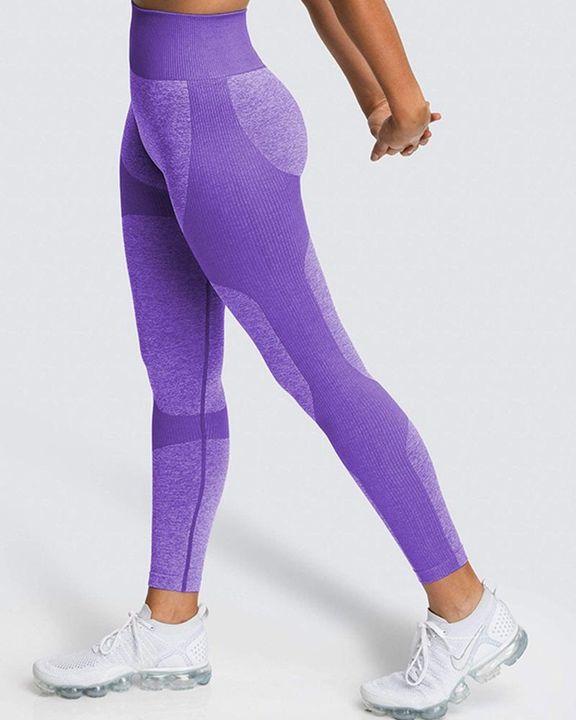 Space Dye Butt Lifting Seamless Absorbs Sweat Sports Leggings gallery 15