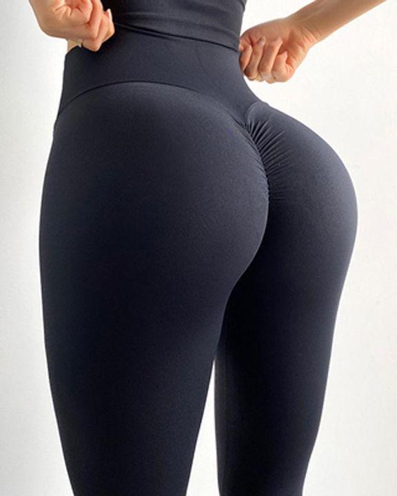 Wide Waistband Scrunch Butt Hip Lift Sports Leggings gallery 2