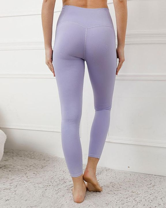 Contrast Stitch Pocket Side Softness Butt Lifting Sports Leggings gallery 8