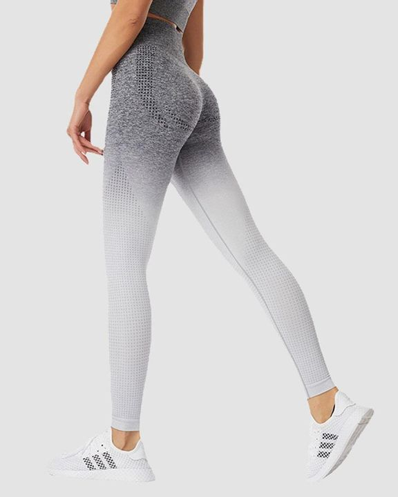 Ombre Breathable High Waist Butt Lifting Sports Leggings gallery 2