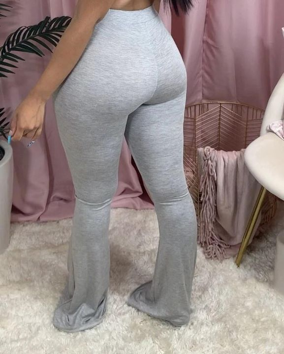 Drawstring Front Slant Pocket Flare Pants gallery 11