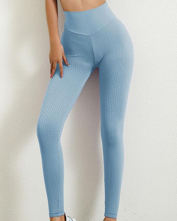 Solid Textured Butt Lifting Leggings gallery 3