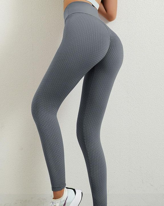 Solid Textured Butt Lifting Leggings gallery 27