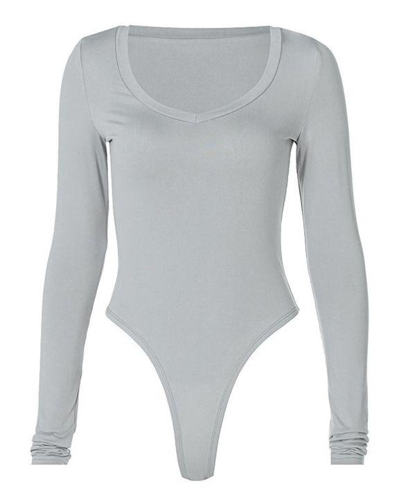 Solid Long Sleeve Bodysuit gallery 5