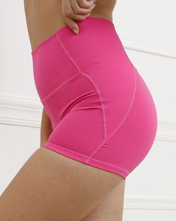 Pocket Decor Wide Waistband Butt Lifting Sports Shorts gallery 23