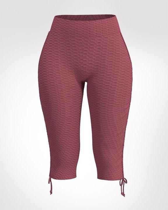 Textured Drawstring Hem Sports Shorts gallery 1