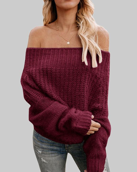 Chunky Knit Off Shoulder Sweater gallery 2