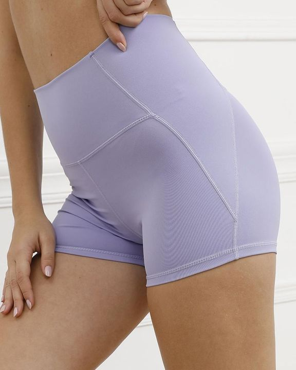 Pocket Decor Wide Waistband Butt Lifting Sports Shorts gallery 7