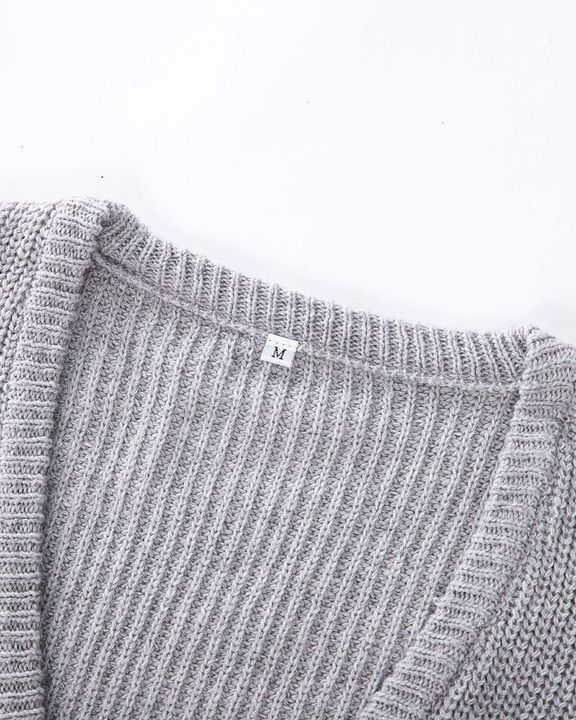 Chunky Knit Drop Shoulder Sweater gallery 10
