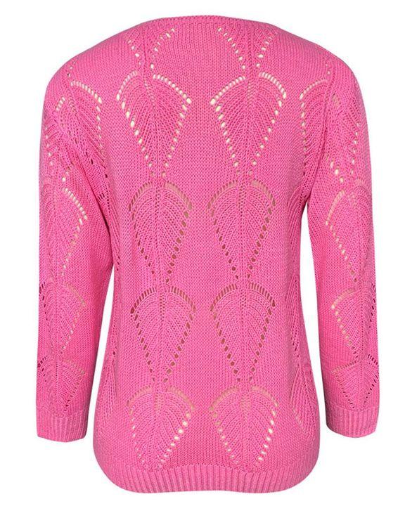 Pointelle Knit Drop Shoulder Bodycon Sweater gallery 6
