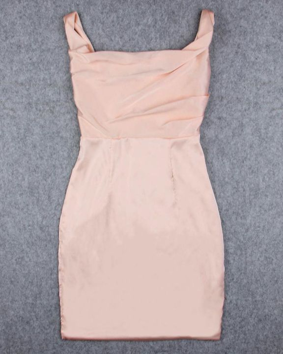 Solid Draped Split Hem Bodycon Knee Length Dress gallery 6
