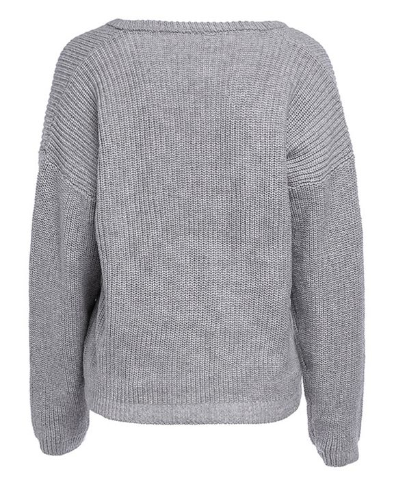 Chunky Knit Drop Shoulder Sweater gallery 9
