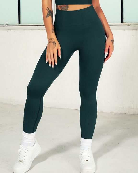 Ombre Wide Waistband Butt Lifting Sports Leggings gallery 20