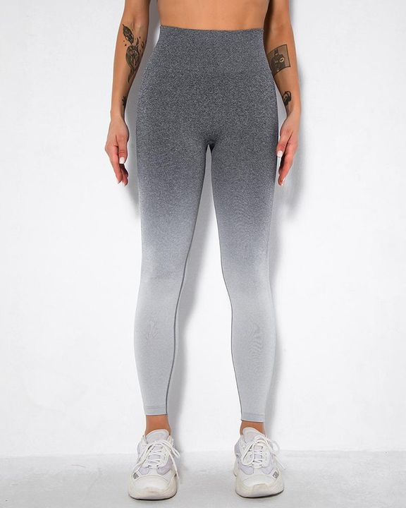 Ombre Space Dye Seamless Butt Lifting Sports Leggings gallery 14