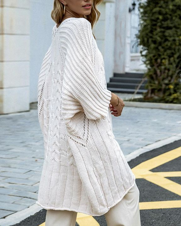 Chunky Knit Round Neck Sweater gallery 3