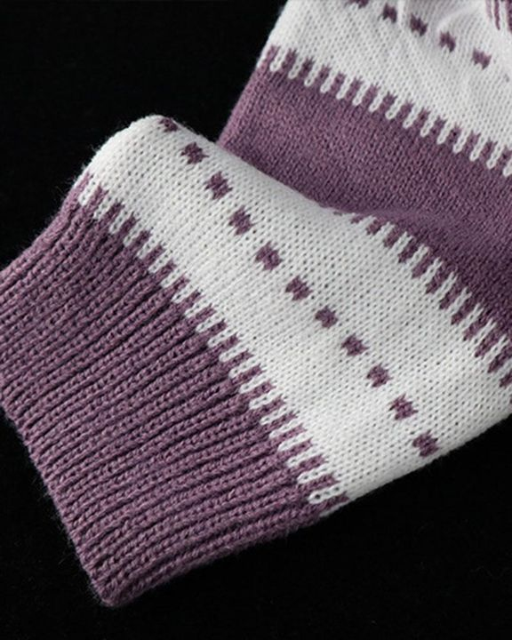 Colorblock Drop Shoulder Ribbed Knit Sweater gallery 8