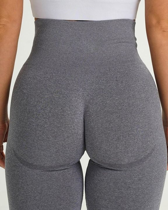 Solid Wide Waistband Contrast Stitch Sports Leggings  gallery 12