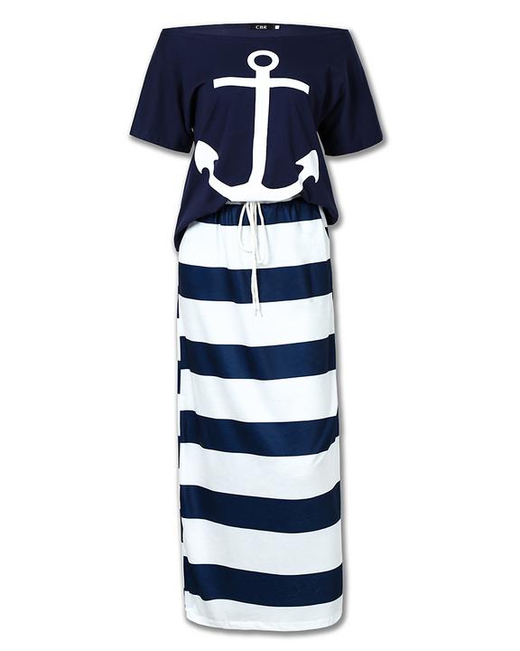 Anchor Print T-Shirt & Striped Skirt Set gallery 5