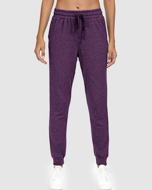 Solid Drawstring Front Pocket Detail Sports Pants gallery 5