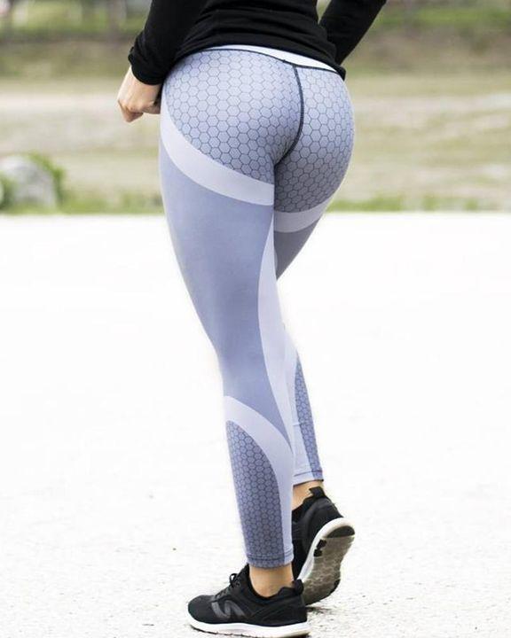 Colorblock Butt Lifting High Waist Sports Leggings gallery 2