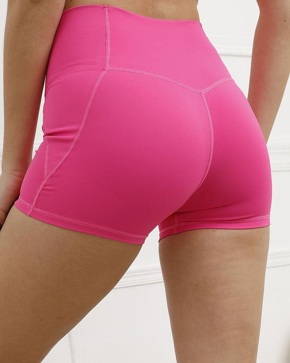 Pocket Decor Wide Waistband Butt Lifting Sports Shorts gallery 25