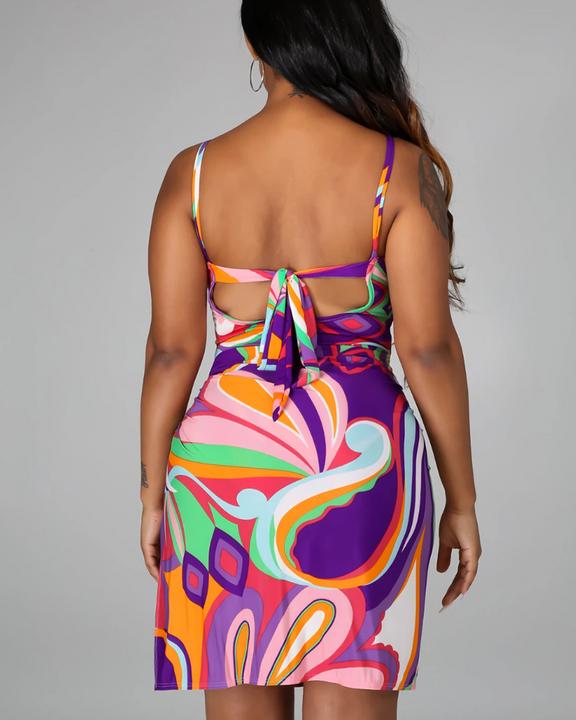 Three Way Colorblock One Piece Swimsuit & Beack Skirt gallery 7