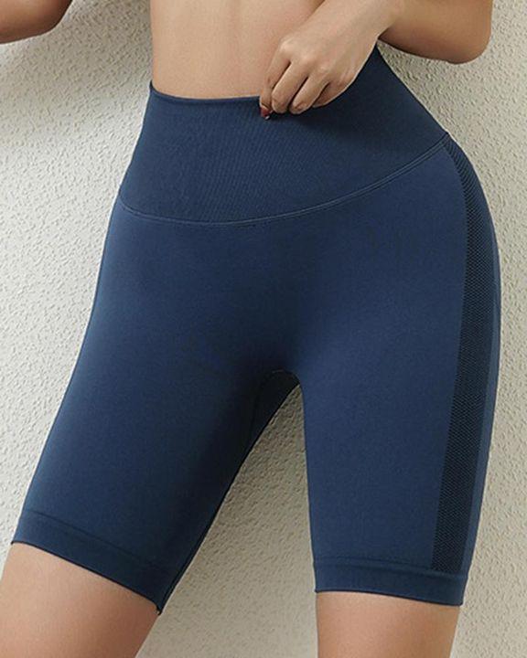 Solid Butt Lifting High Waist Sports Shorts gallery 7