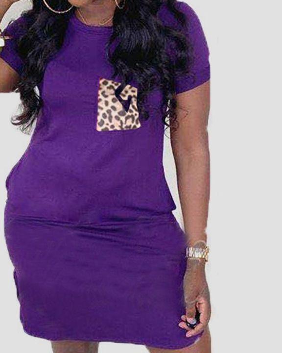 Solid Pocket Front Short Dress gallery 4