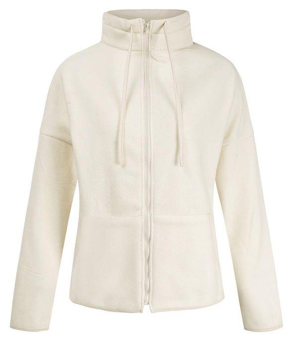 Solid Zip Up Split Hem Stand Collar Jacket gallery 5