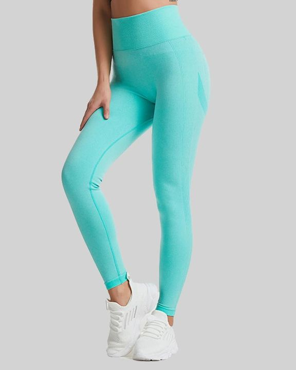 Space Dye Wide Waistband Butt Lifting Sports Leggings gallery 5