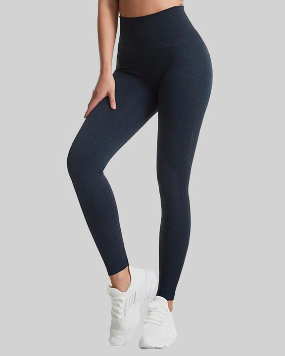 Space Dye Wide Waistband Butt Lifting Sports Leggings gallery 3
