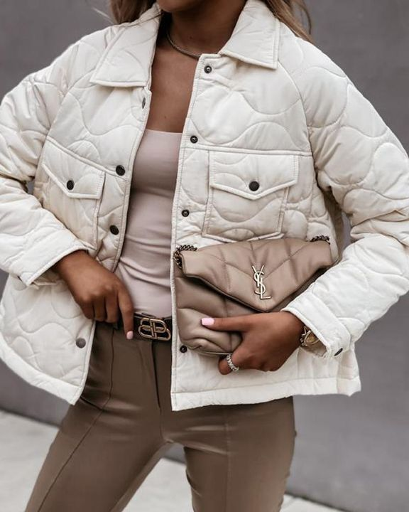 Solid Pocket Detail Button Up Coat gallery 1
