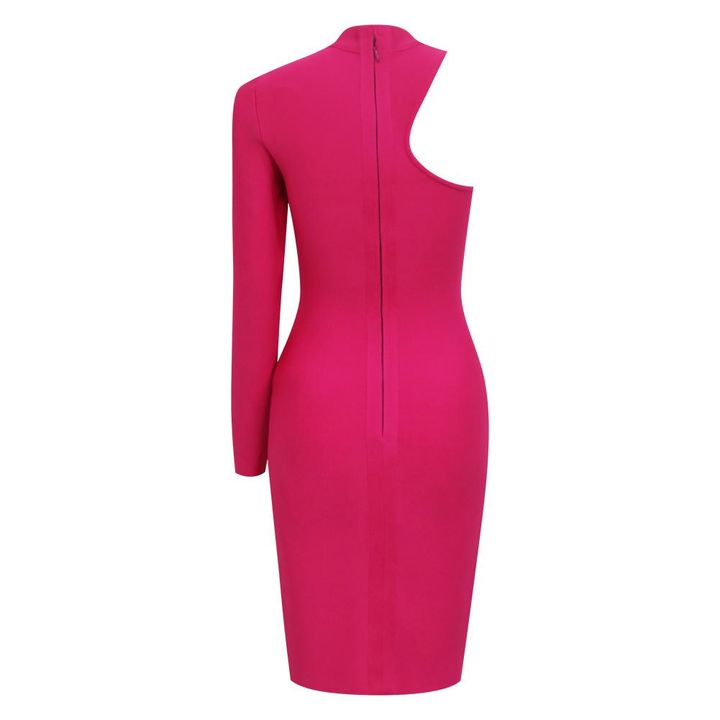 Bandage One Shoulder Cut Out Midi Dress gallery 8