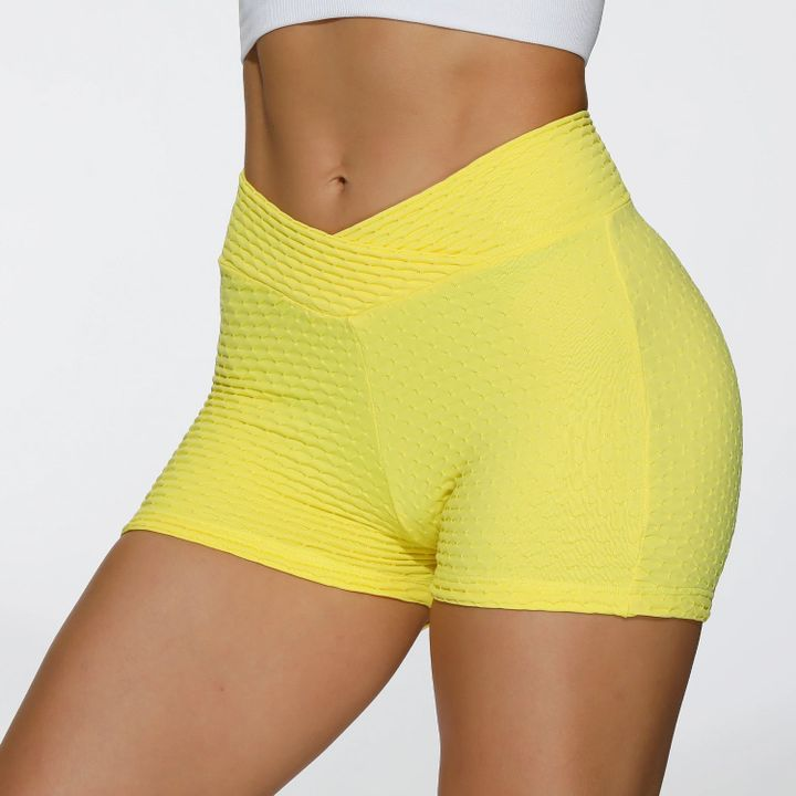 Butt Lifting Elastic Ruched Running Sports Shorts gallery 8