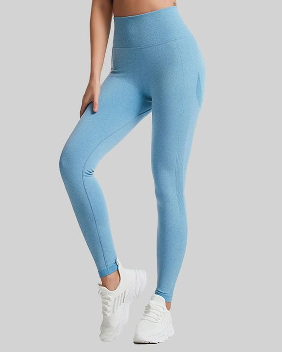 Space Dye Wide Waistband Butt Lifting Sports Leggings gallery 4