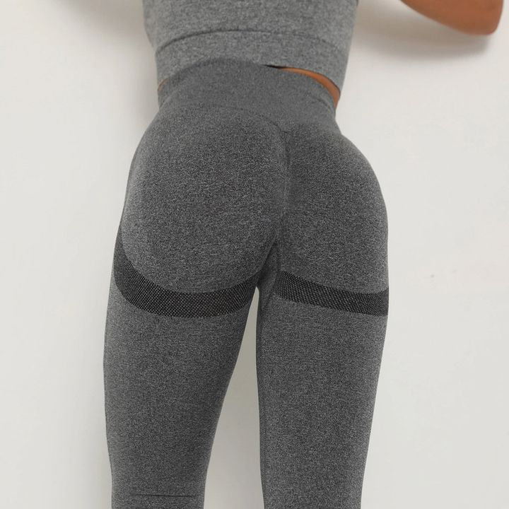 Solid Beauty Contour Butt Lifting Sports Leggings gallery 16
