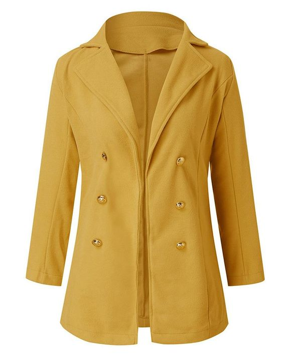 Double Breasted Lapel Neck Coat gallery 4