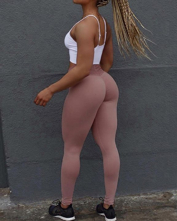Ruched Wide Waistband Sports Leggings gallery 3
