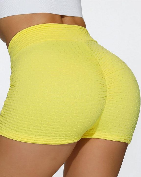 Butt Lifting Elastic Ruched Running Sports Shorts gallery 1