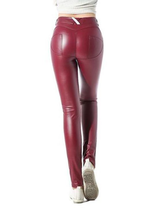HyperFlex Hip-Lifting Faux Leather Sports Leggings gallery 6