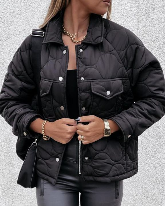 Solid Pocket Detail Button Up Coat gallery 9