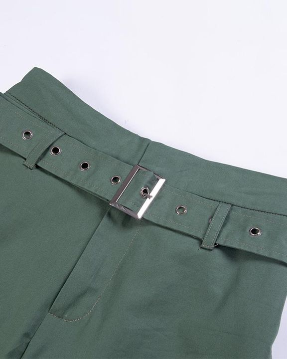 High Waist Belted Pocket Detail Pants gallery 8