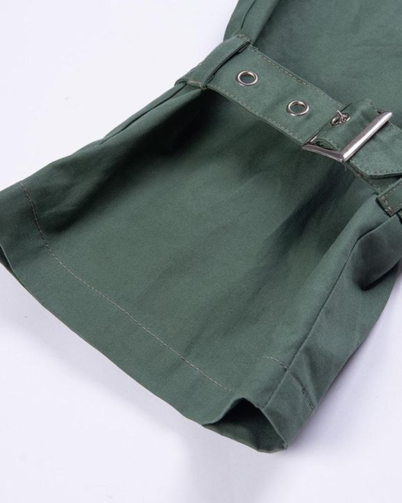 High Waist Belted Pocket Detail Pants gallery 9